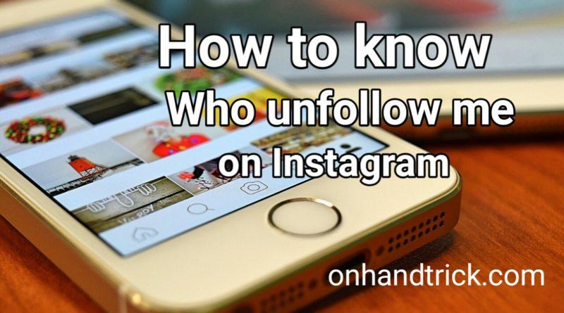 Kaise Check kare Instagram Unfollower