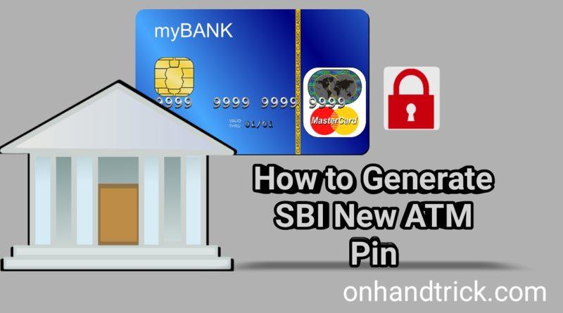 SBI new ATM card Pin kaise banaye