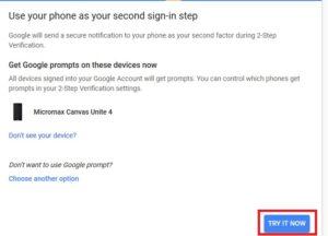 Gmail 2Step Verification Enable