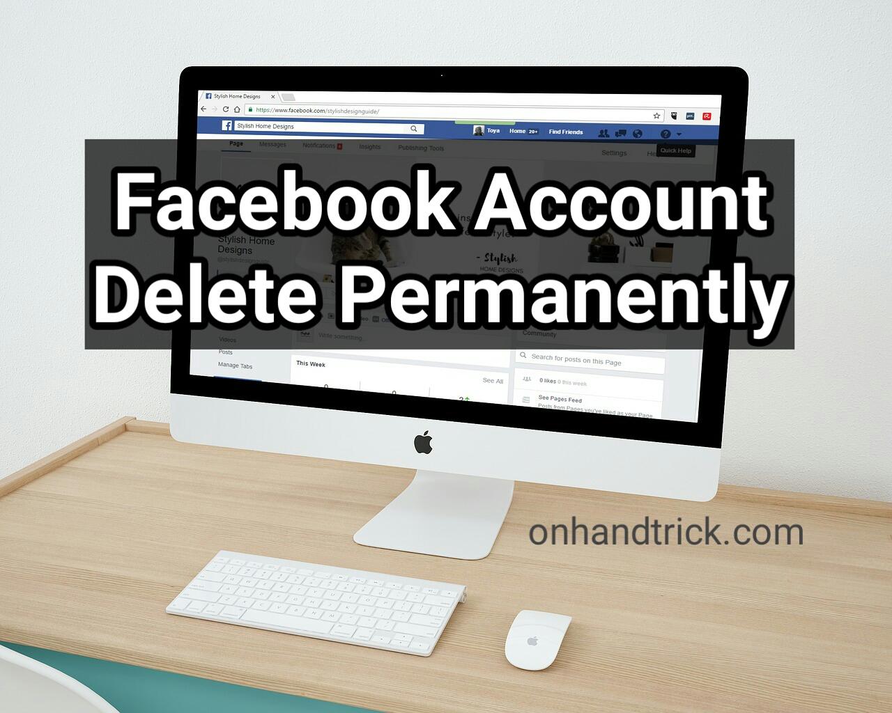 Facebook Account Delete/Deactive Kaise Kare
