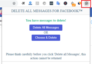 Delete facebook all message at once