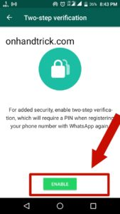 Whatsapp 2Step Verification Set & Remove Kaise Kare