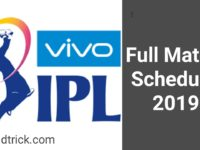 VIVO IPL 2019 TIME TABLE