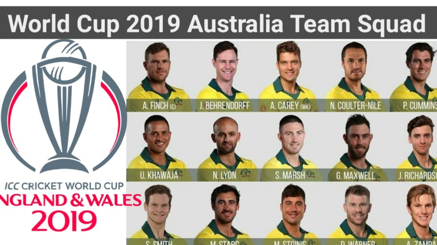 World Cup 2019 Australia Team Player List And Captain