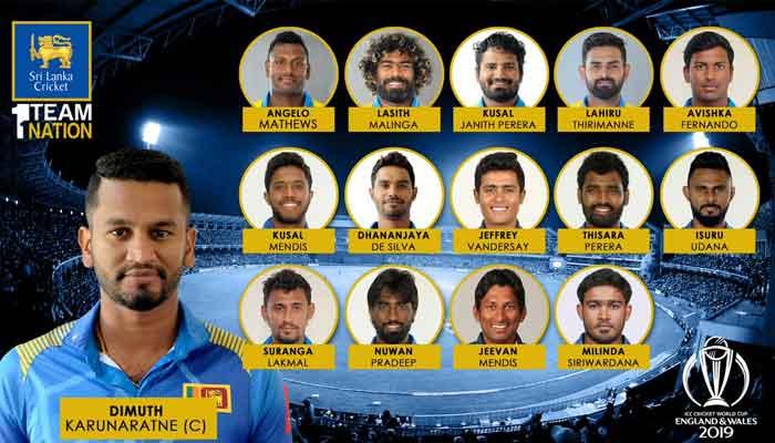 World Cup 2019-Sri Lanka Team Player List and Captain
