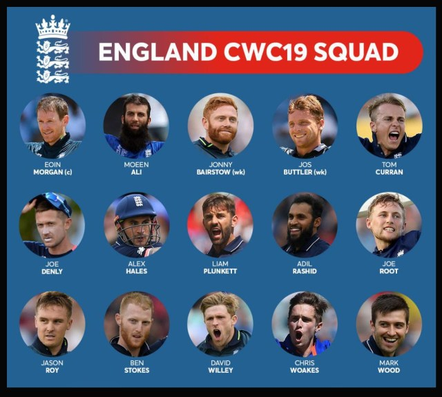 World Cup 2019-England Team Player List And Captain