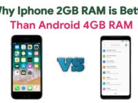 Why iphone 2gb ram is better than android phone 4gb ram