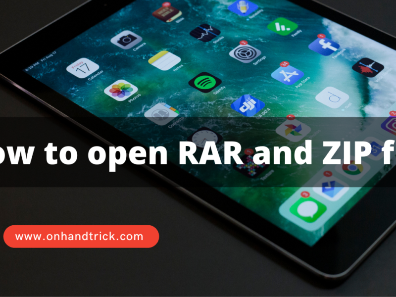 How to open RAR and ZIP file in Windows, Android